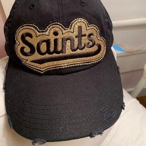 New Orleans saints hat black